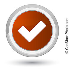 Validate icon prime brown round button