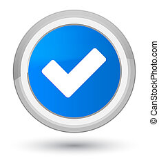 Validate icon prime cyan blue round button