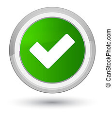 Validate icon prime green round button