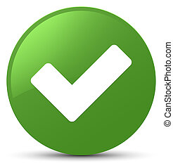 Validate icon soft green round button