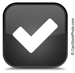 Validate icon special black square button