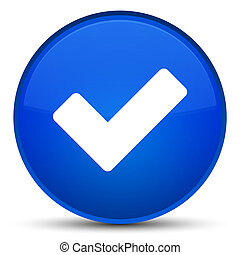 Validate icon special blue round button