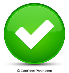 Validate icon special green round button