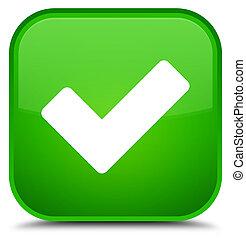Validate icon special green square button