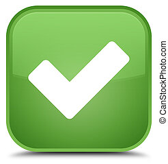 Validate icon special soft green square button