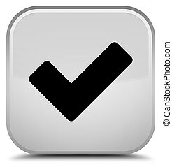 Validate icon special white square button