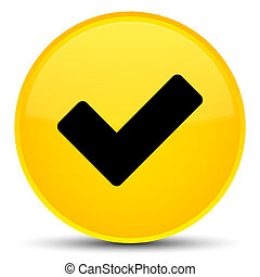 Validate icon special yellow round button