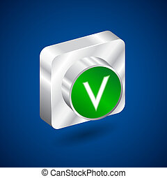 Validation accepted metall green button