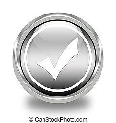 Validation glossy icon