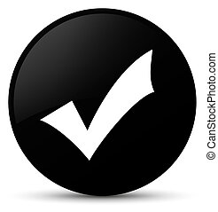 Validation icon black round button
