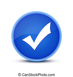 Validation icon isolated on blue round button abstract button abstract