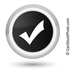 Validation icon prime black round button