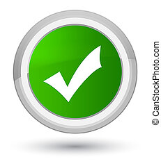 Validation icon prime green round button