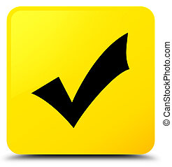 Validation icon yellow square button