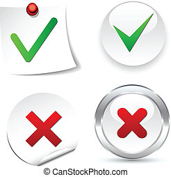 Validation Icons. - Validation white icons. Vector...