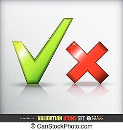 Validation icons set.