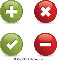 Validation icons.