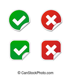 Validation labels - Round and square validation labels