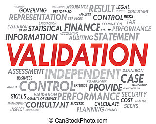 VALIDATION word cloud