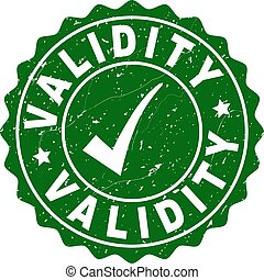Validity Scratched Stamp with Tick