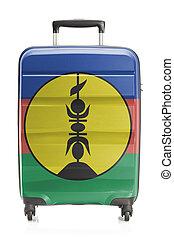 valigia, con, bandiera nazionale, serie, -, nuova caledonia