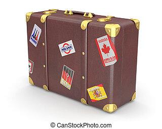 valise cuir