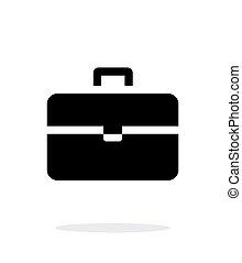 valise, icône, simple, arrière-plan., blanc