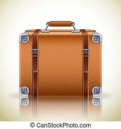 valise, retro, icône