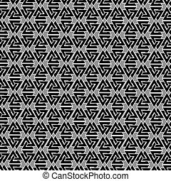 Valknut vector pattern, Valknut black and white background