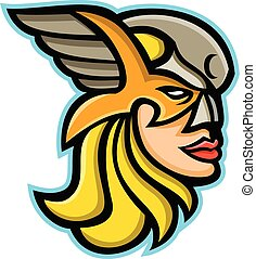 valkyrie-norse-god-head-side-mascot