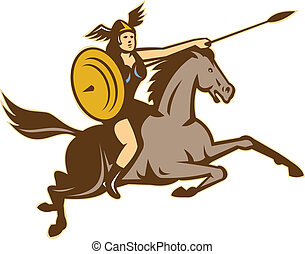 valkyrie-riding-horse-side-right, iso