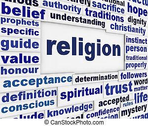 vallás, üzenet, háttér