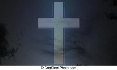 vallás, bizalom, cross.