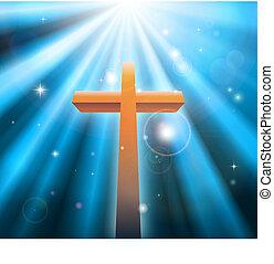 vallás, keresztény, kereszt