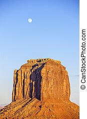 vallée monument, à, lune