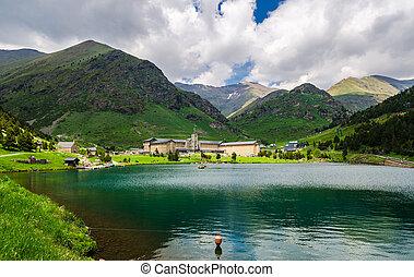 Vall de Nuria Sanctuary in the catalan pyrenees, Spain