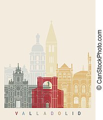 Valladolid skyline poster