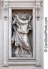 valle, アンドリュー, 入り口, 聖者, 使徒, ローマ, イタリア, 像, della, sant, 教会, andrea