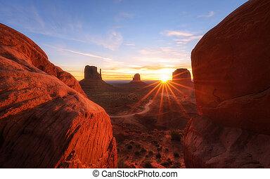 valle, arizona-utah, alba, monumento