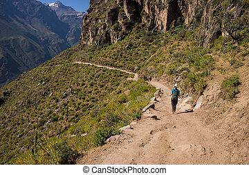 valle, avventura, trekking