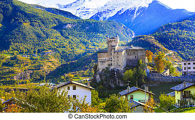 Valle d'Aosta nature scenery , northern Italy - Impressive ...
