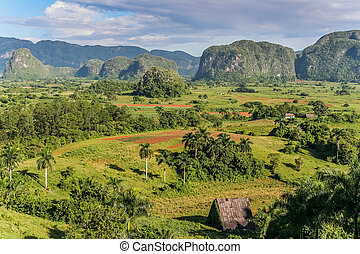 Valle de Vinales - View of Valle de Vinales in the west of...