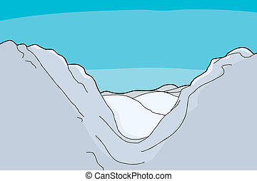 valle montagna, fondo