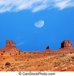 valle monumento, gibbous, luna