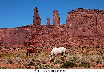 valle, monumento, paesaggio