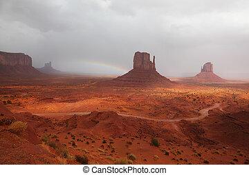 valle, monumento, paesaggio, grande
