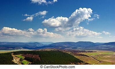 valle, mountain.