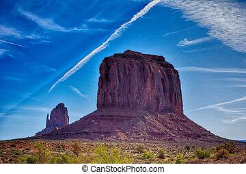 valle, stati uniti, arizona, monumento, unico, paesaggio