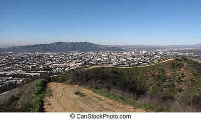 Valle Vista Trail panorama in Glendale, CA