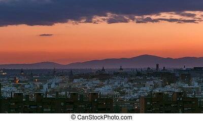 vallecas-neighborhood, Hügel,  madrid,  pio, foto,  Timelapse,  Park,  tio, Nacht, genommen, Spanien, Tag, Ansicht